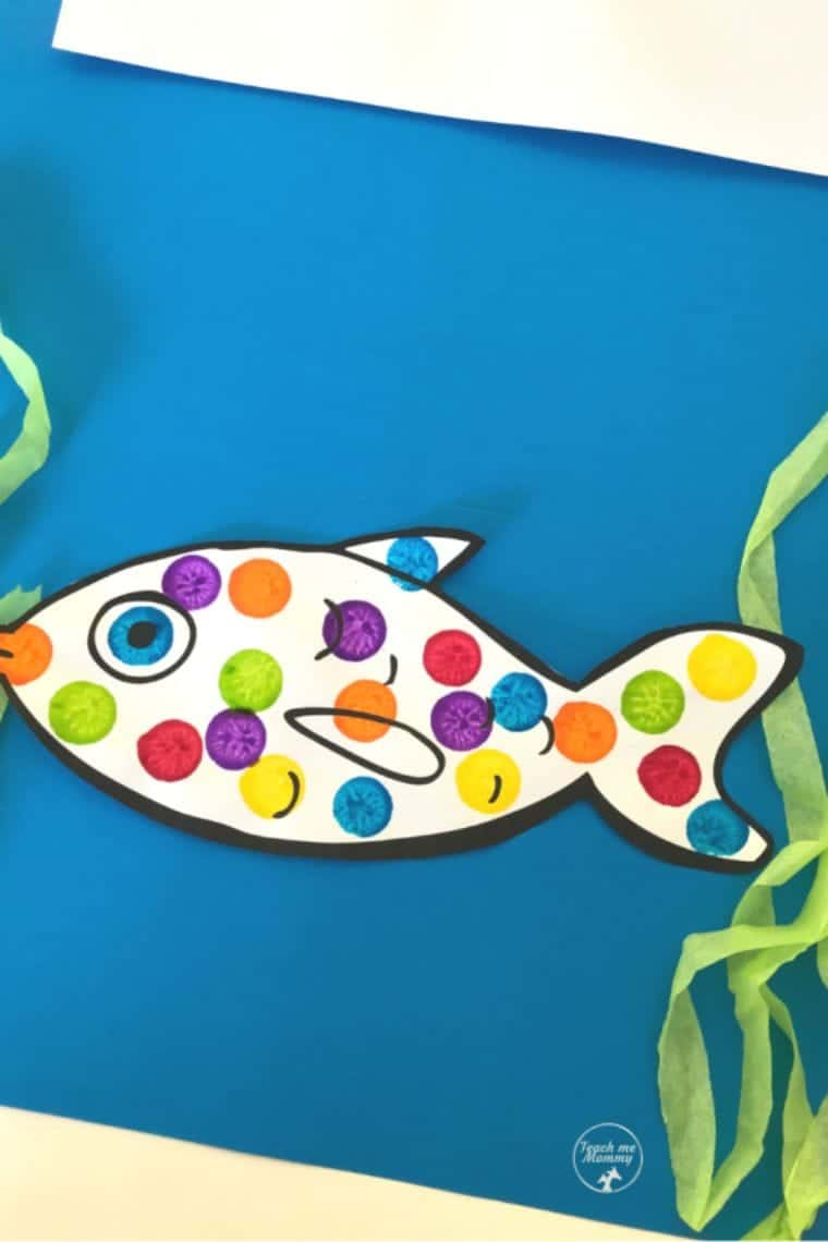 Dabbed Fish Craft for children