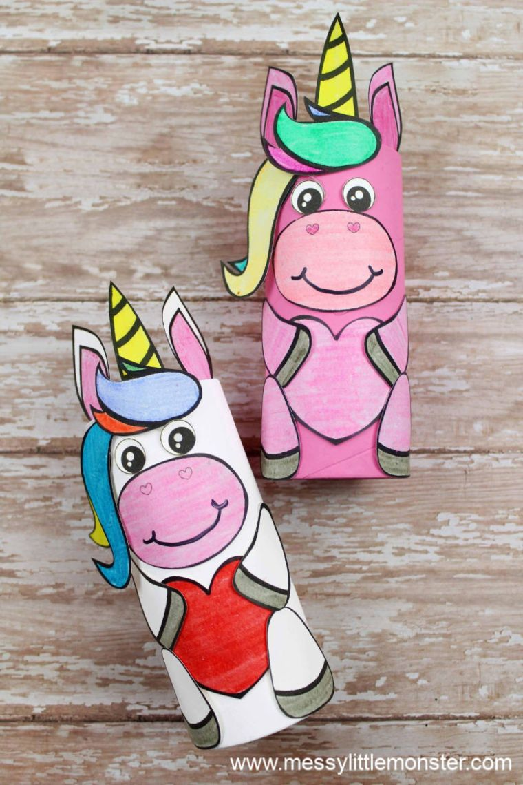 Cardboard Unicorn Figures