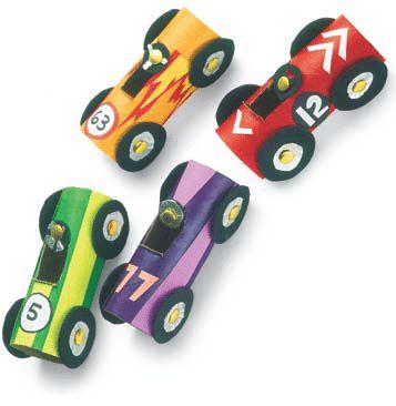 Toilet Paper Race Cars