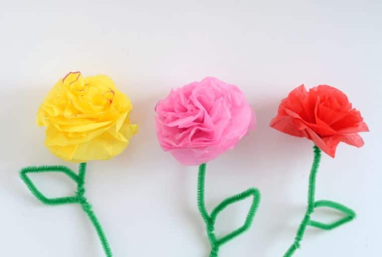 Tissue Paper Spring Flowers