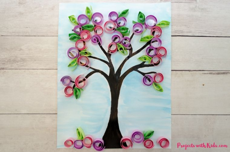 Spring Paper Tree Craft