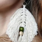diy leaf earrings