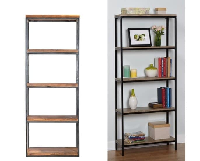 Modern Wooden Metal Bookshelf