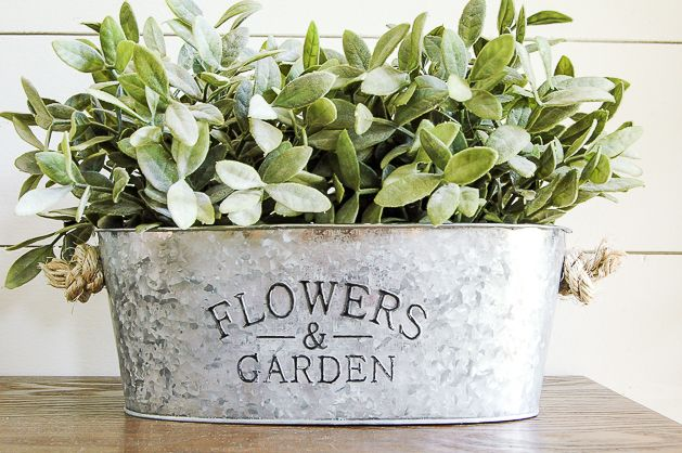 DIY Aged and Galvanized Planters