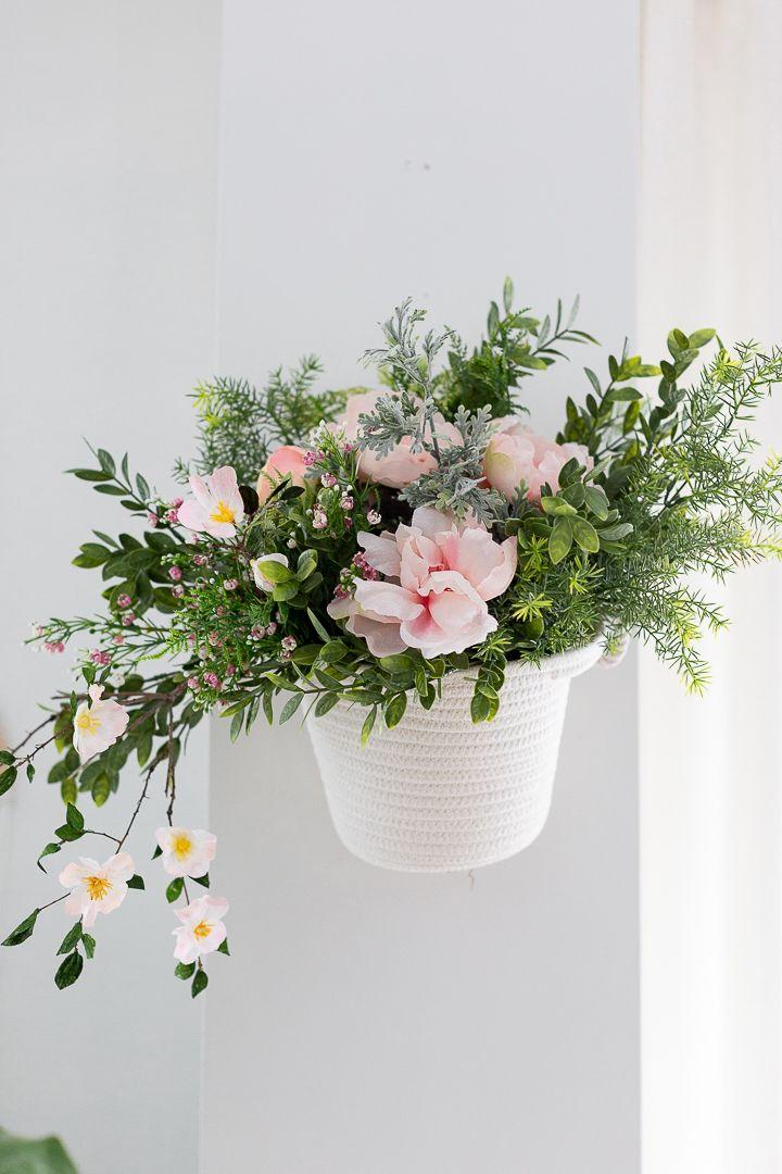 DIY Floating Flower Basket