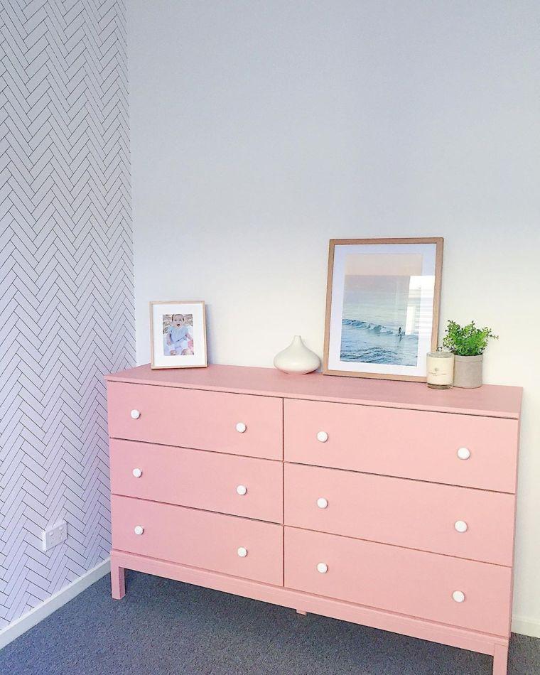 pink dresser idea