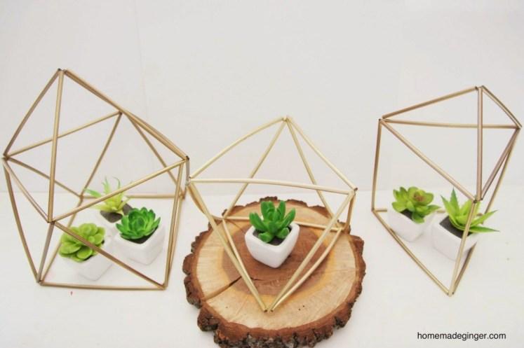 Geometric Straw Planters