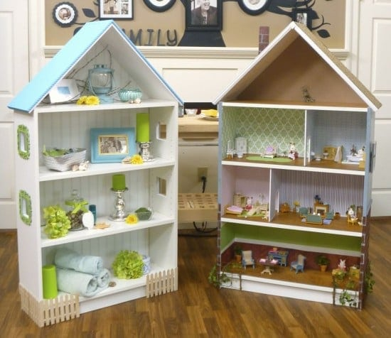 Charming Dollhouse Bookcase