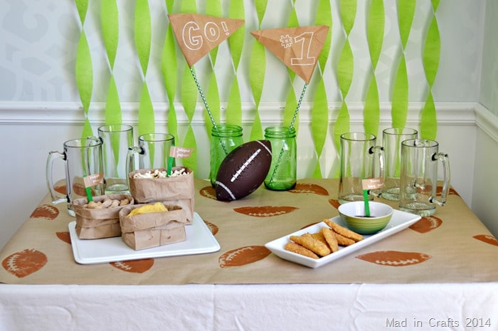 Football-Themed Party Decor