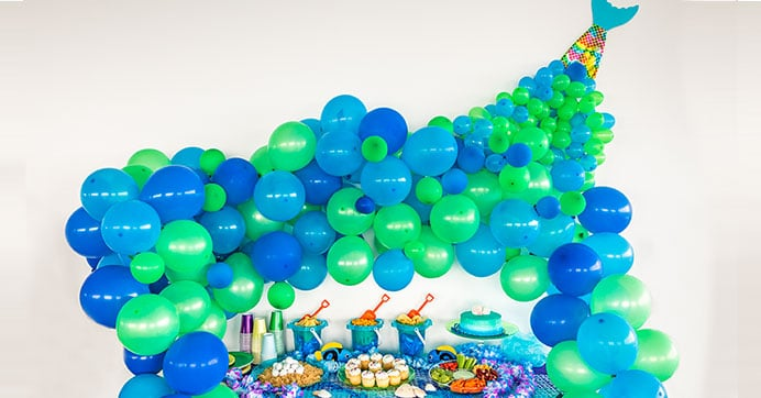 Mermaid Balloon Backdrop