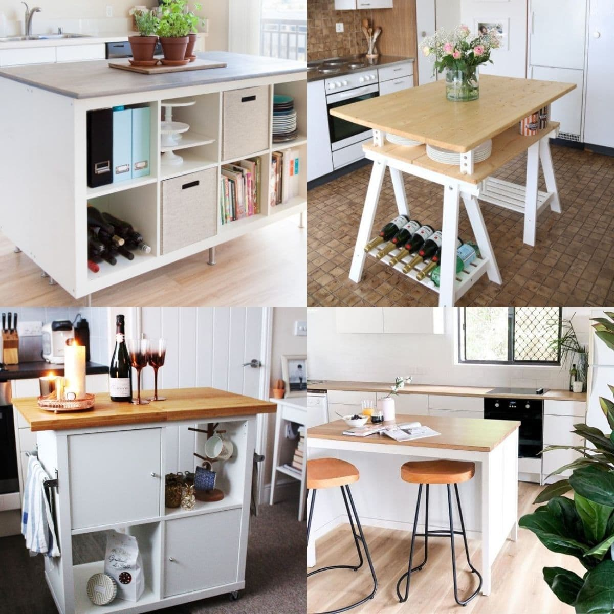 20 Creative Ikea Kitchen Island Ideas Craftsy Hacks This will come in handy if you don't have much counter space, don't have a linen closet, need some extra shelves somewhere, etc. 20 creative ikea kitchen island ideas