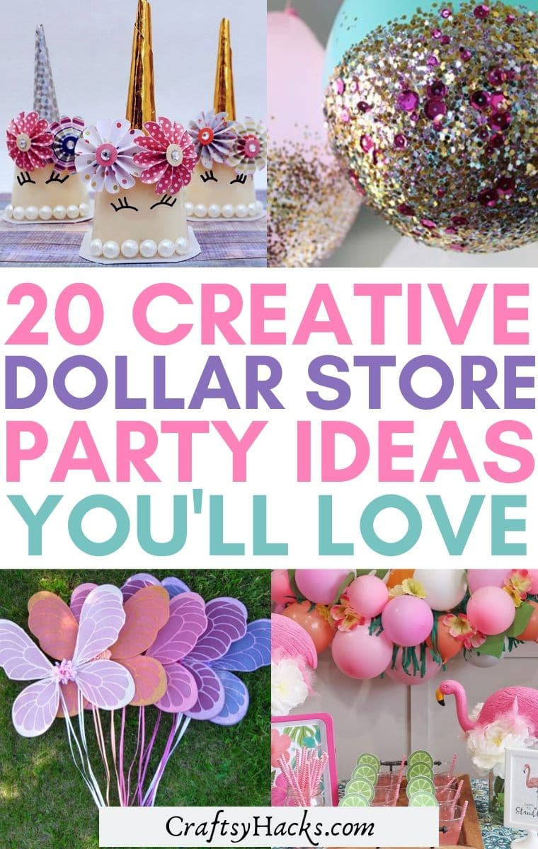 dollar store party ideas