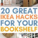 ikea hacks for bookshelves