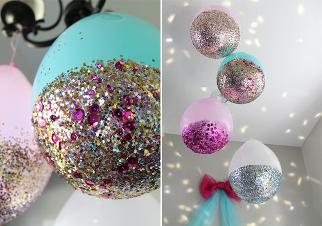 Glittery Balloons