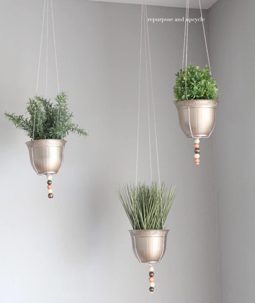 Golden Hanging Planters
