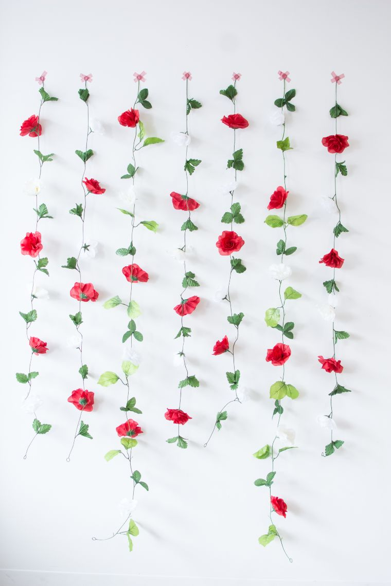 DIY Floral Vine Backdrop