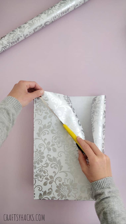 cutting decorative paper
