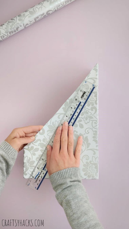 measuring adhesive paper