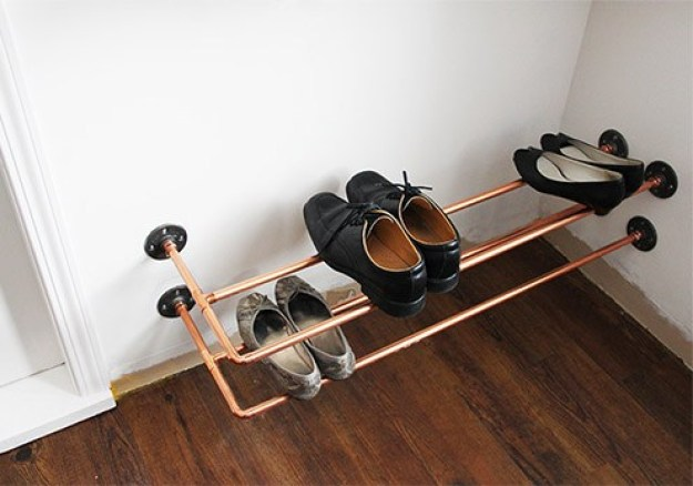 Wall Mounted Copper Shoe Racks