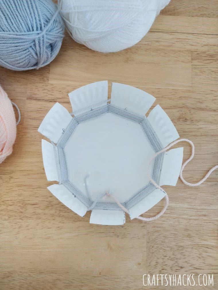 weaving 2nd yarn color