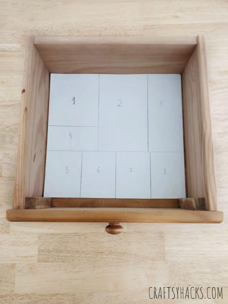 sections in drawers