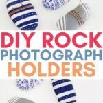 diy rock picture holder