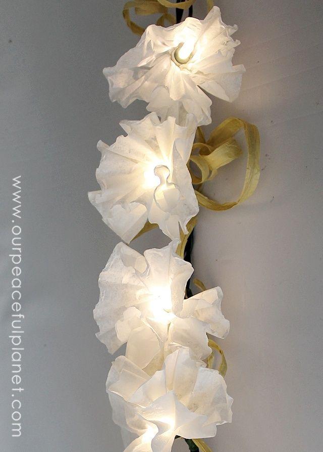 Coffee Filter Flower Light