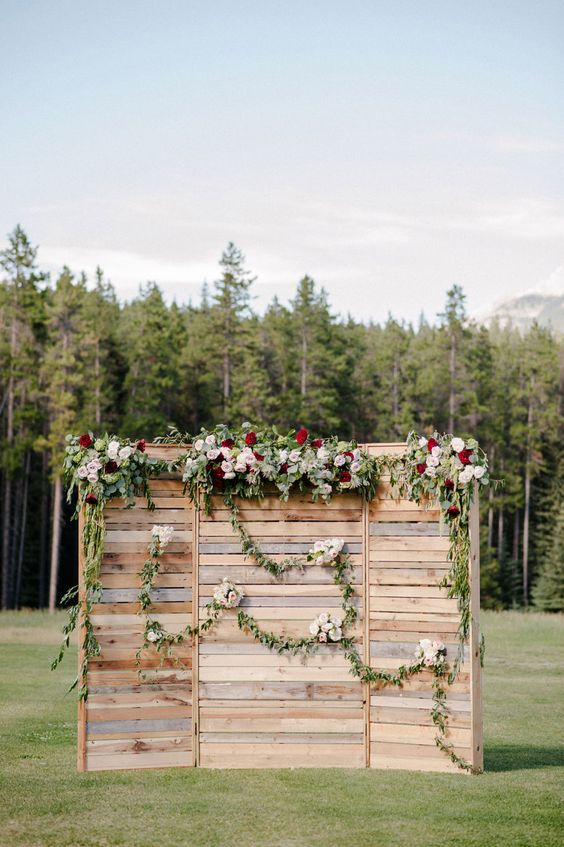 Flowers and Wooden Crates