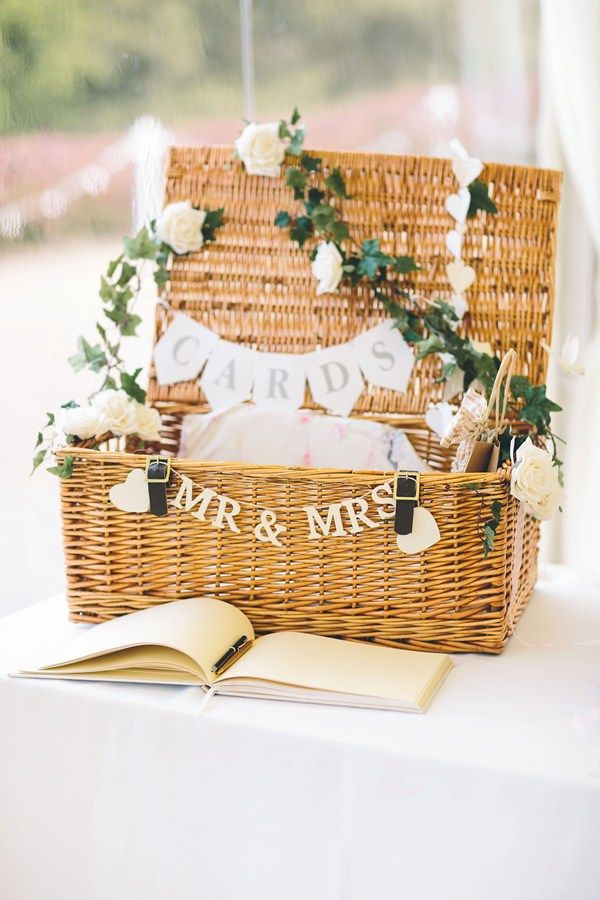 Wicker Wedding Card Holder