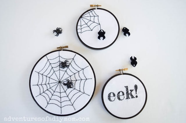 Embroidered Spider Web