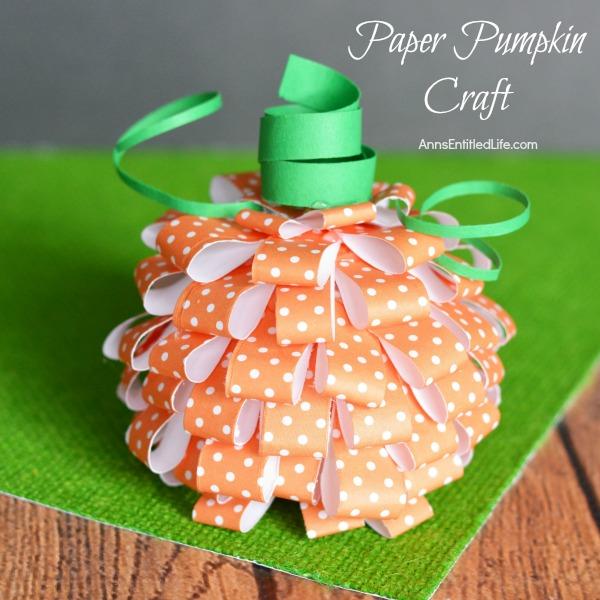 Pumpkin Cardstock Decor