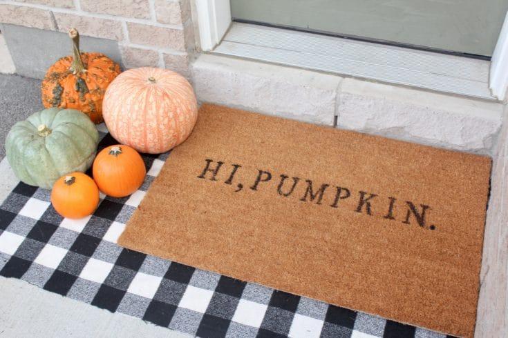 DIY Pumpkin Door Mat