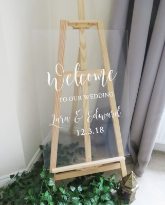 Welcome Glass Board
