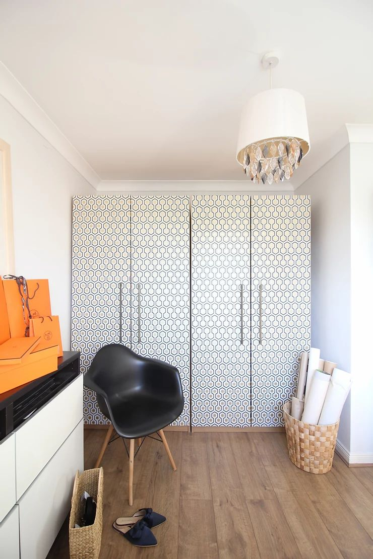 Patterned Closet Doors