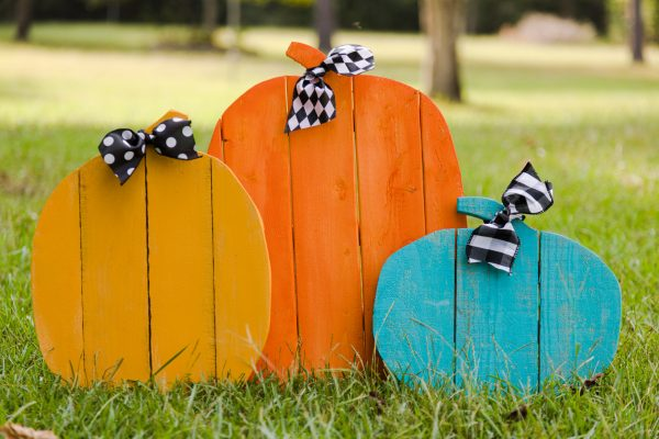 DIY Pumpkin Fences