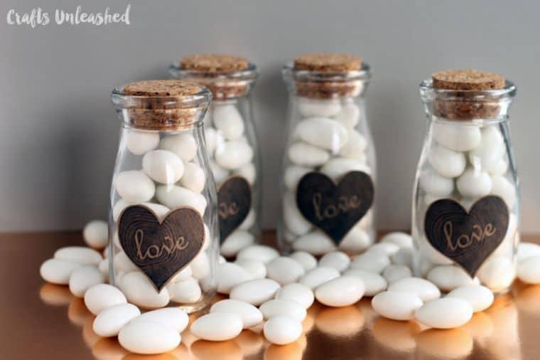 Milk Bottle Wedding Favors