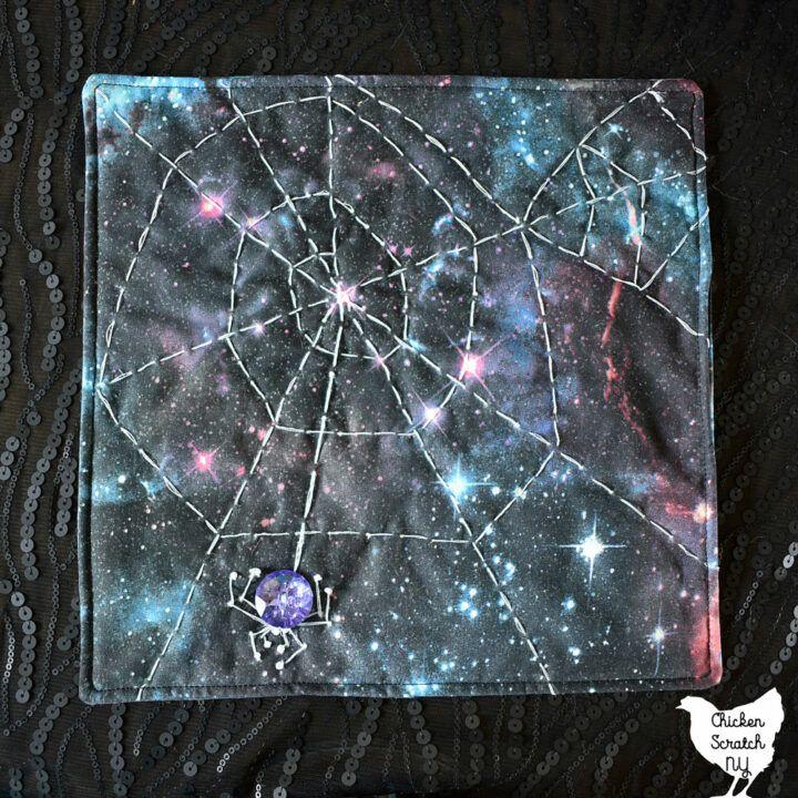 DIY Spider Web Quilt