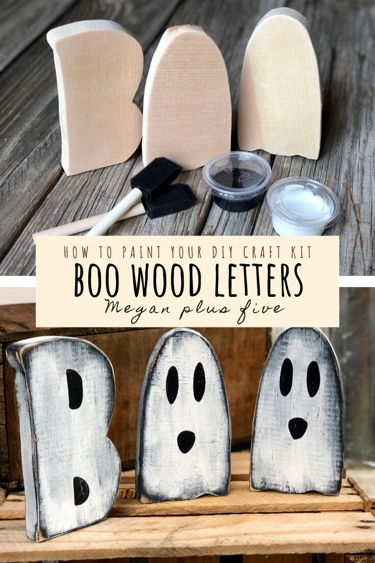 DIY Wood BOO Letters