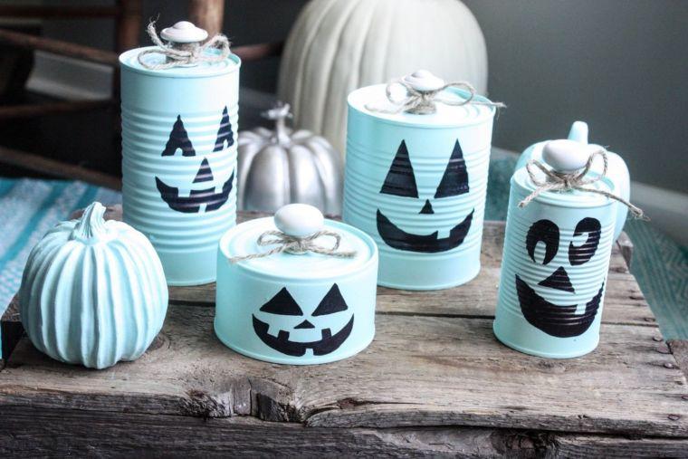 DIY Recycled Tin Can Pumpkins