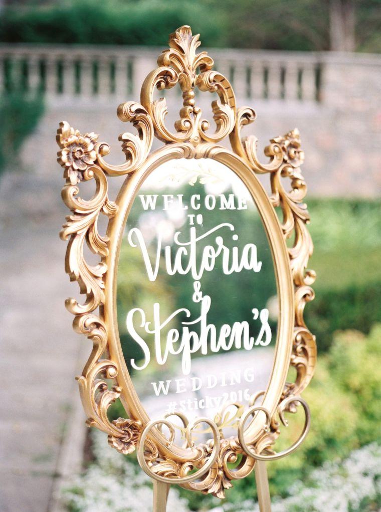 Upcycled Mirror Signage