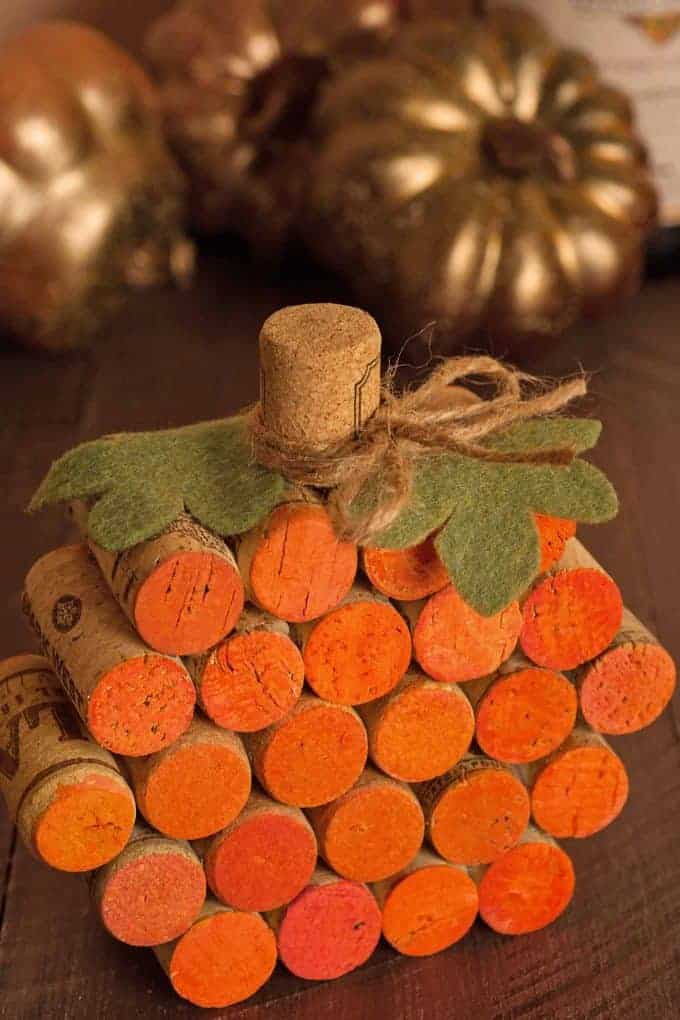 Pumpkin Made of Wine Corks