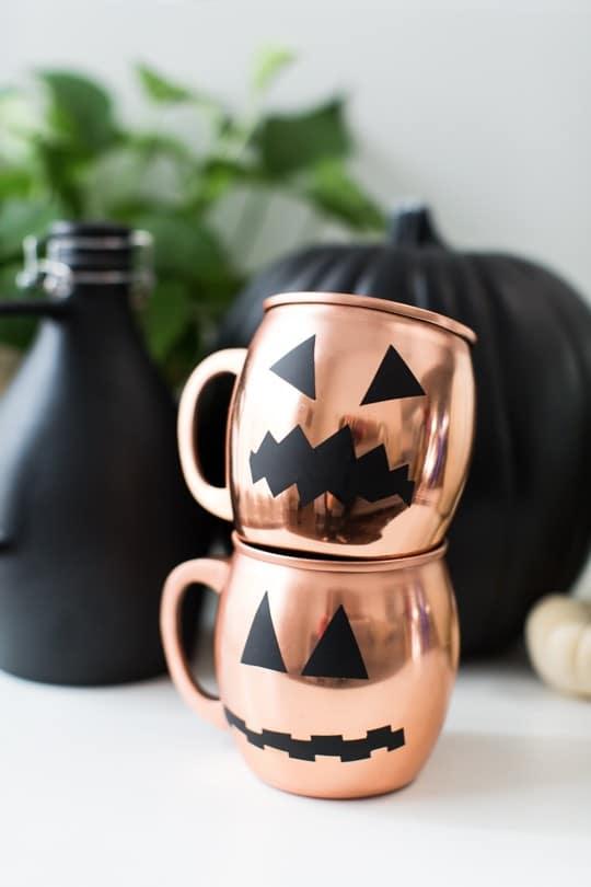 Copper Pumpkin Mugs