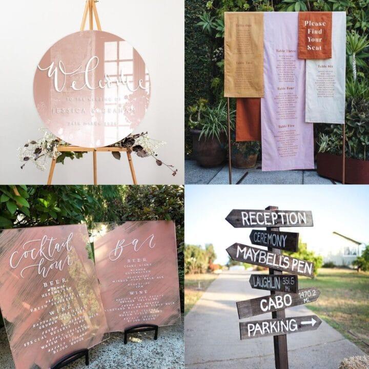 20 Creative DIY Wedding Sign Ideas