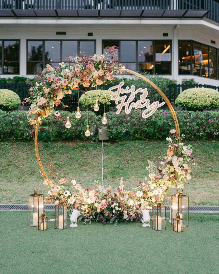 Floral Hoop Backdrop