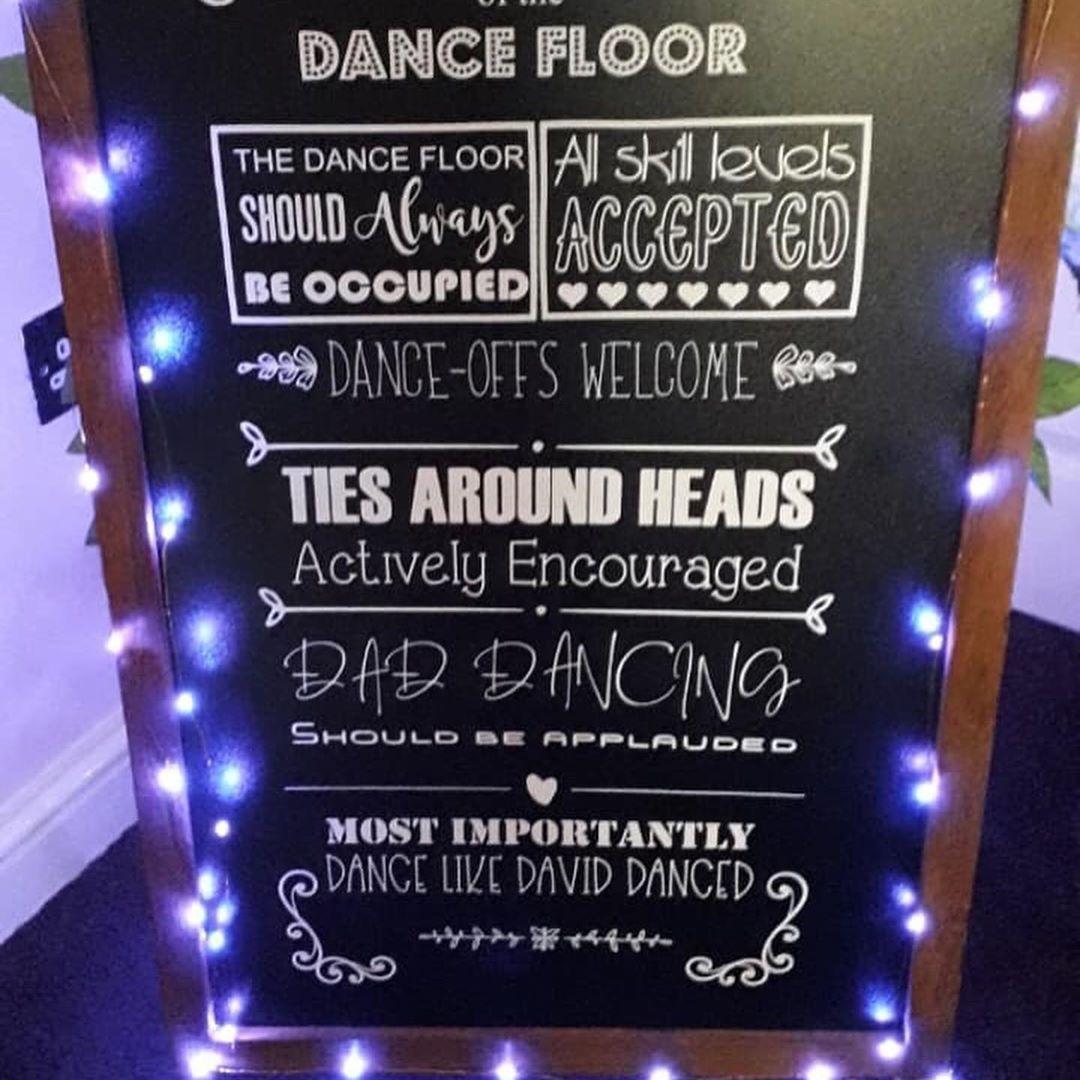Light Up Chalkboard Sign