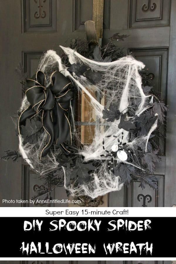 Cobweb-Covered Wreath