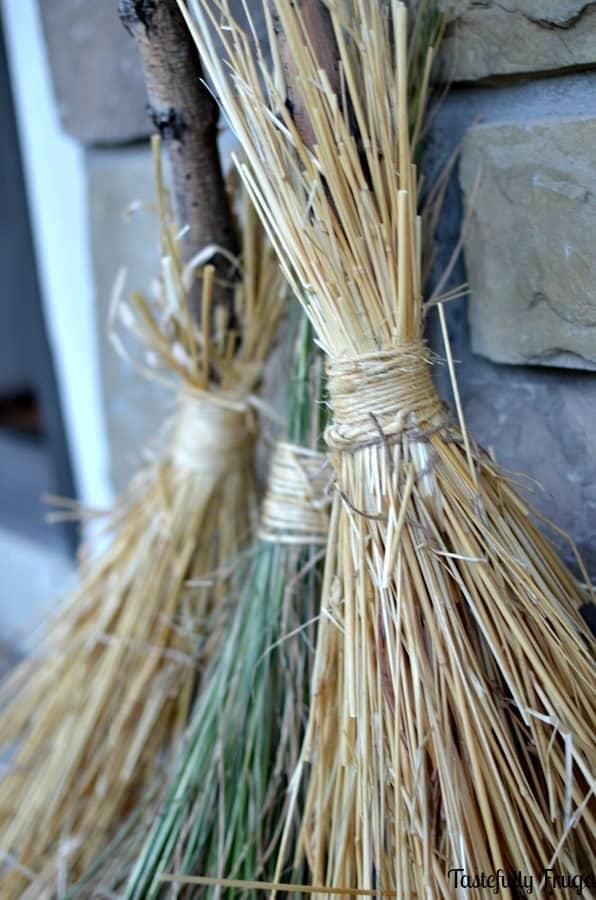 Straw Witch Broom