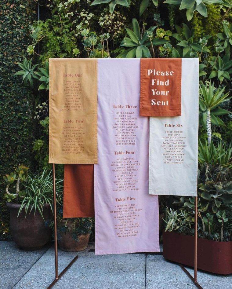 Fabric Seating Charts
