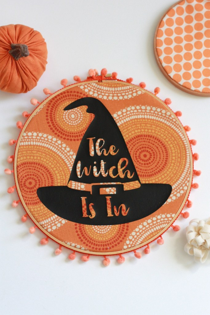 Witch Hat Stencil Wall Decor