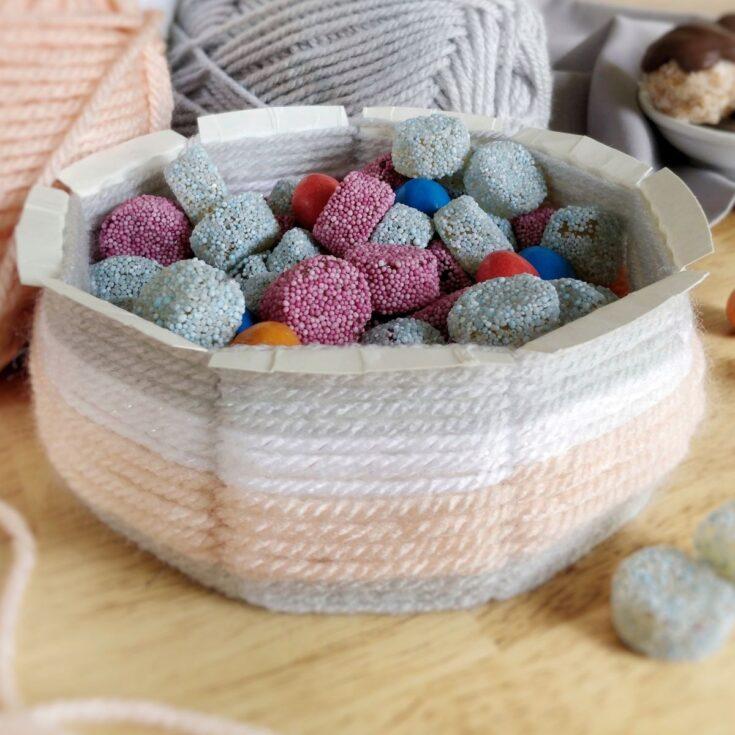 diy woven bowl
